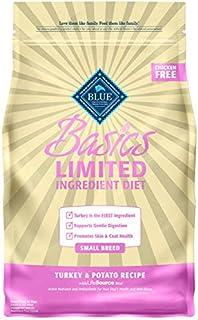 Blue Buffalo Basics Limited Ingredient Diet, Natural Adult Small Breed Dry Dog Food, Turkey & Potato 4-lb