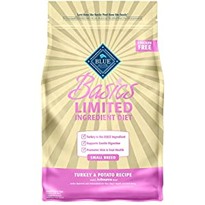Blue Buffalo Basics Limited Ingredient Diet, Natural Adult Small Breed Dry Dog Food, Turkey & Potato