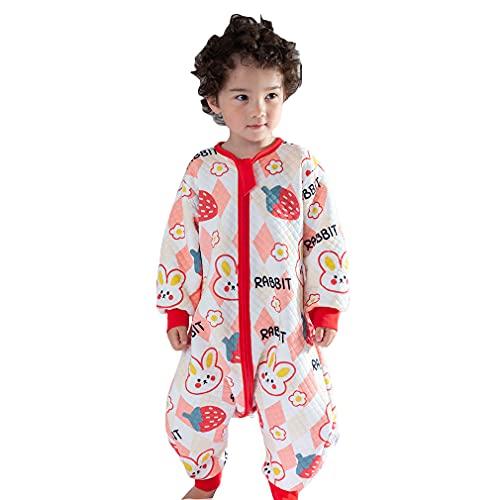 wetry Saco de Dormir con Pies para Bebé,Cómodo Manga Larga Algodón Pijama Manta Niño Niña Unisex