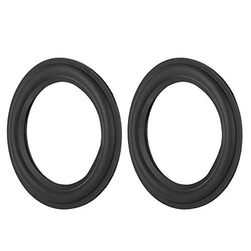 Luidspreker, rubberen rand, woofer reparatiedeel, luidspreker, afdekking reparatie subwoofer schuimrand vervanging, luidsprekeronderdelen voor luidsprekers, zwart, 4 inch.