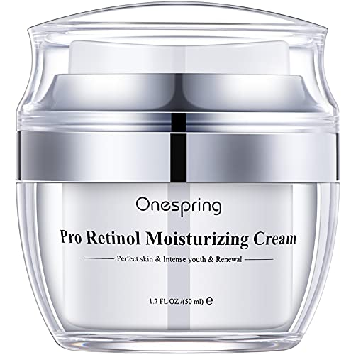 Retinol Cream for Face,Onespring Wrinkle Cream,Firming Cream for Women Anti Aging Collagen with Hyaluronic Acid Day and Night Serum Anti Wrinkle Retinol Complex-Made in USA