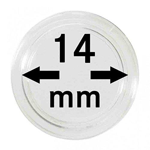 LINDNER Das Original Capsules Monnaies Ø intérieur 14 mm, Paquet de 100