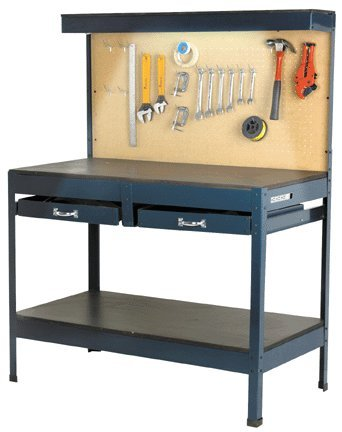 Multipurpose Workbench with Lighting and Outlet