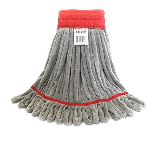 英雄拖把头更换,商业拖把,微纤维拖把头与尼龙擦洗垫 - 红色