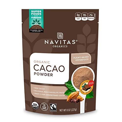 Navitas Organics Cacao Powder, 8oz. Bag — Organic, Non-GMO, Fair Trade, Gluten-Free