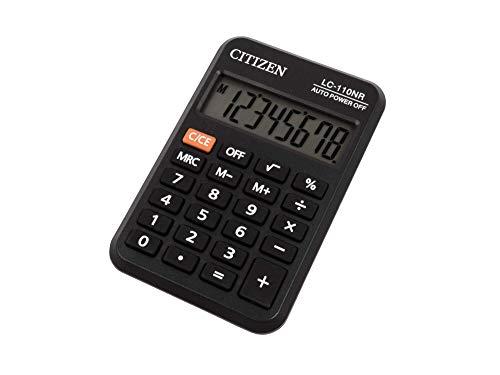 Citizen LC-110NR Taschenrechner, schwarz