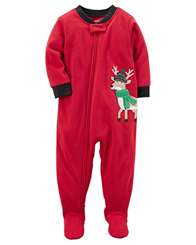 Carter's Boys 1-Piece Reindeer Fleece PJs (12 Months)