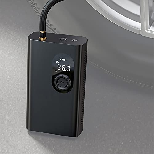 Bomba de Aire Portátil 12V,Hinchador de Batería Digital con Sensor Presión y Luces LED,Compresor Aire Coche 120 PSI, para Scooters, Motocicletas, Bicicletas, Automóviles, Pelotas