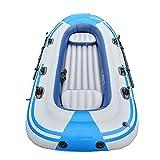 HOUADDY Bote Inflable Grueso, 2 Personas, 3 Personas, 4 Personas, Kayaks inflables de Pesca y Rafting, Plegable Resistente al Desgaste