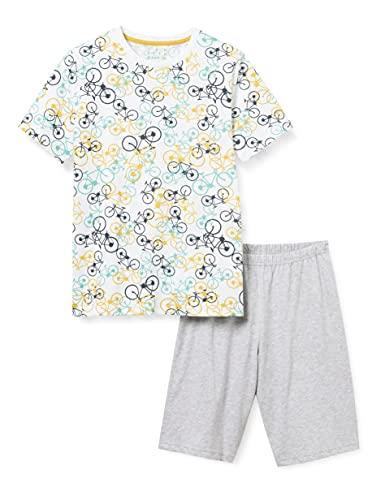 Sanetta Jungen Pyjama Short blau Pyjamaset, Navy Blue, 164