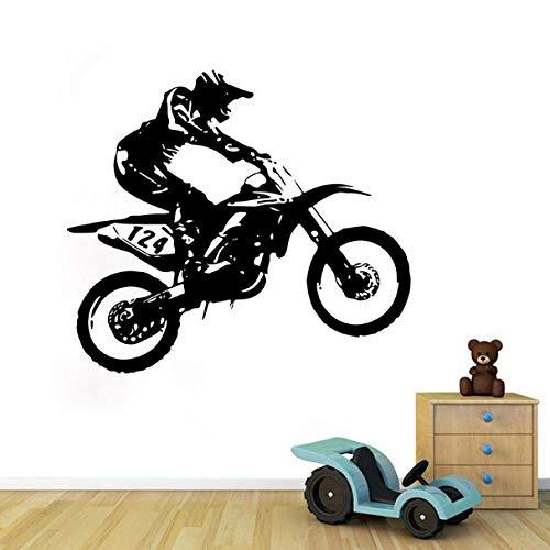 Ziruixiong Motorrad Rennfahrer Wandaufkleber Für Junge Kinderzimmer Schlafzimmer StudieDekoration Abziehbilder Tapete Handgeschnitzte Aufkleber
