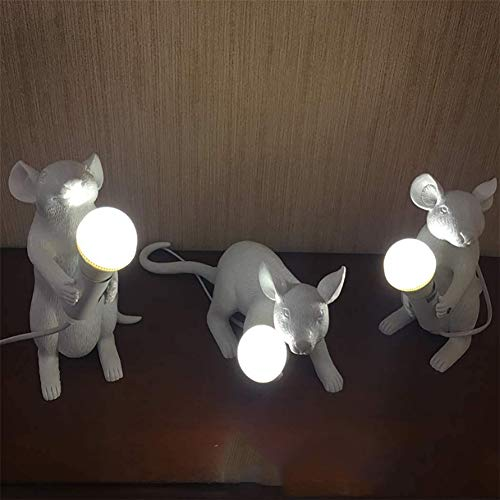 Lamp room decor kinderen Resin Shape Muis Mini tafellamp verlichting decoratie Gift voor kinderkamer,3pcs