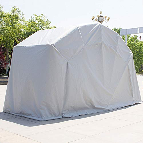Cubierta Carpa plegable portátil cobertizo al aire libre Moto bicicletas con marco fuerte, bici de la motocicleta garaje techado 100% a prueba de agua de Sunproof Burglarproof, cubierta del coche simp