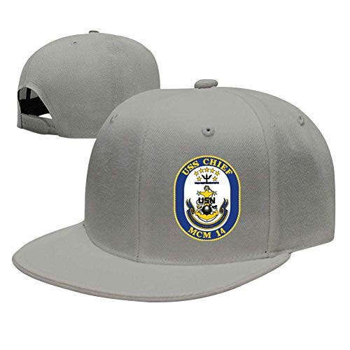 SuyuttiER USS Chief MCM-14 Baseball Cap Adjustable Trucker Hat Dad Hat Gray