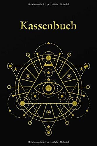 Kassenbuch: Einnahmen-Ausgaben Buch 120 Seiten A5 - Design - Schwarz Gold Muster Ornament
