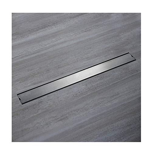 Handheld Drenaje de piso resistente al olor Baño SUS304 Ducha de acero inoxidable Drenaje de piso Loseta de drenaje de piso lineal Azulejo Para el baño (Color : Normal style)