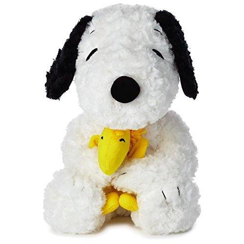 Hallmark - Peanuts Medium Snoopy With Woodstock Stuffed Animal, 14'