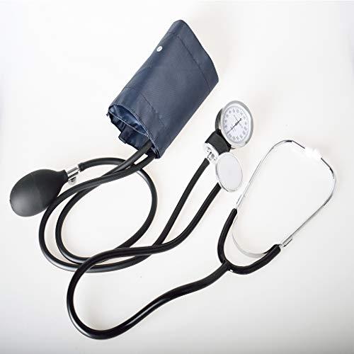 RUIVE Kit Professionnel Pression Artérielle avec Stéthoscope, Sphygmomanomètre Anéroïde, Manchon Jauge Pression Artérielle pour Consultation d'un Médecin Services d'urgence, Noir