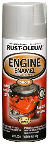 Rust-Oleum 248953 Automotive Rust Preventive Engine Enamel Spray Paint, 12 Oz Aerosol Can, 11 oz, Cast Coat Aluminum