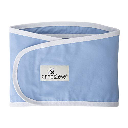 Anna amp Eve  Baby Swaddle Strap Adjustable Arms Only Wrap for Safe Sleeping  Large Size Fits Chest 16 to 205 Blue