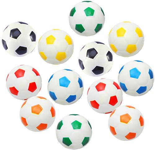Akusety 12Pcs Mini Sports Stress Balls Soccer Balls Fun Foam Ball...