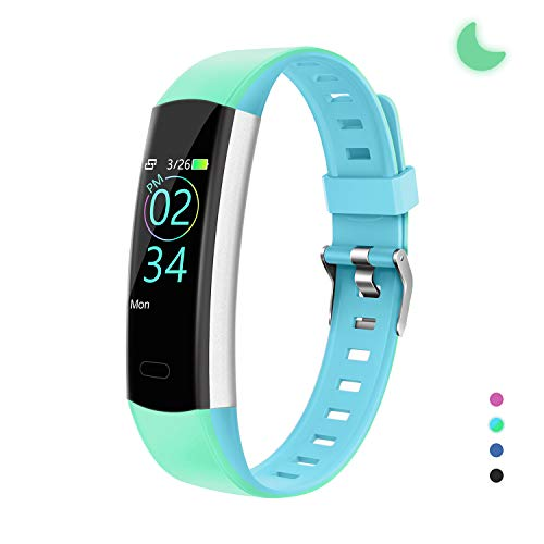 YoYoFit Slim HR Kids Fitness Tracker Watch with Heart Rate Monitor, Kids Activity Tracker Health Exercise Watch with Pedometer Calorie Counter Sleep Monitor, for Women Men Kids, Green