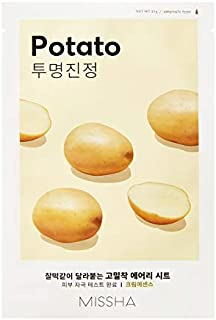 Missha Airy Fit Sheet Mask (Potato - Clarifying/Calming) 7 pcs