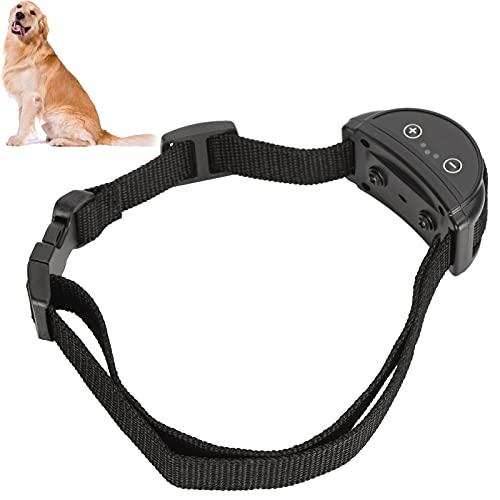 XQAQX Antibellhalsband,Hundebellhalsband,Haustier Antibellhalsband Wiederaufladbares No Harm Vibrationshalsband für kleine mittlere Hunde