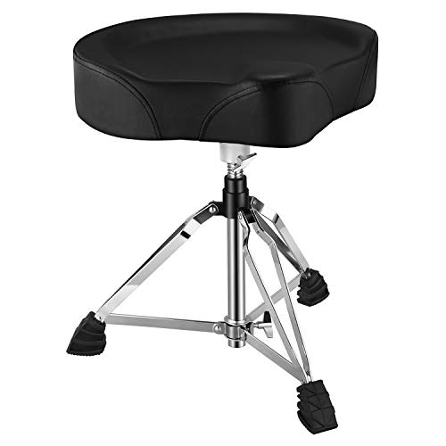 Donner Drum Stool Adjustable Drum Throne Padded Stool Motorcycle Style Drum...