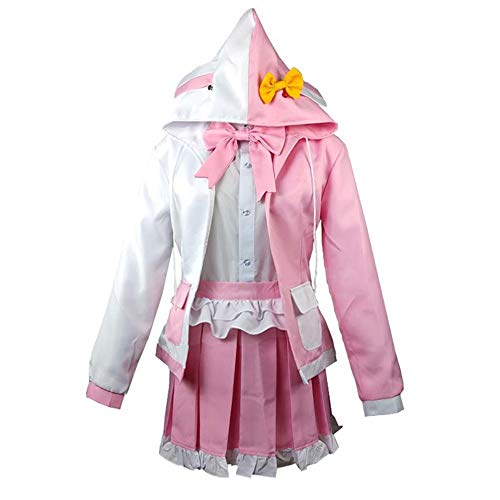 Gegexli Anime Danganronpa 2 Goodbye Despair Cosplay Costumes Monomi Uniforms Halloween Party (L) Pink