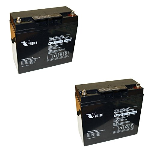 ZYKLENFEST 2 x loodgelaccu, 12 V, AGM-technologie voor grasmaaiers RMAK 22002 WOLF AW17AN Robomow RL-55x RL-85x RL-1000, Robomow City 120, iMow MI 555C RL2000 RL-2000 Accu batterij Bateria