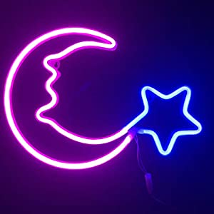 crib bedding and baby bedding night lights for kids neon signs pink moon blue star led neon lights for baby nursery room,wall art décor usb powered children lighting for bedroom,party,christmas birthday gifts(ylx-fla)