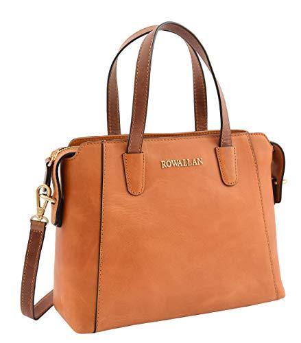 A1 FASHION GOODS Cognac Leder Tasche Kleine Handtasche Für Frauen Kleid Smart Evening Freizeittasche Arya