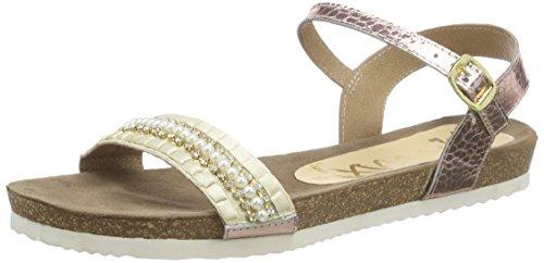 xyxyx Sandale, Damen Knöchelriemchen Sandalen, Beige (beige), 40 EU