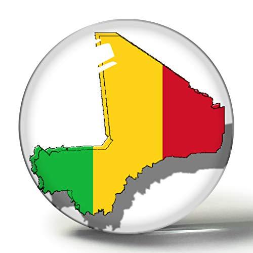 Mali Karte Nationalflagge 3D Kühlschrank Magnet Kühlschrank Magnete Kreis Kristall Aufkleber Souvenir Collection Reisegeschenk