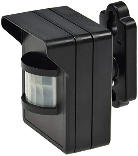 Funk Bewegungsmelder IP44 für Aussen Pilota Casa 90° 8m Reichweite LED Geeignet FunkSignal bis 30 Meter Schwarz