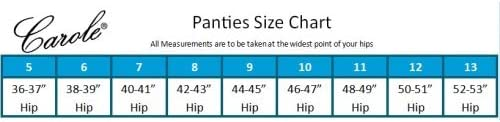 Carole Brand - Classic Nylon Panties For Women Full Cut, High Rise Briefs - Pack of 3 (New and Improved Fit)