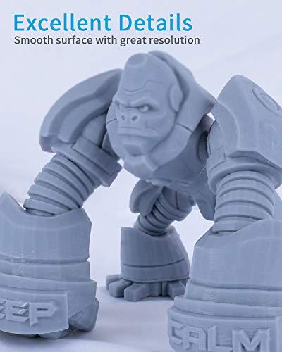 ELEGOO Strong 3D Printer Resin 500g Grey, Rapid Precise Printing Resin 405nm LCD UV-Curing for LCD 3D Printer