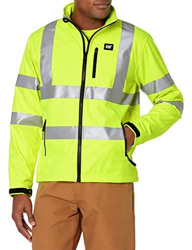 Caterpillar Hi-Vis Softshell Jacket, Hi-Vis Yellow, Medium
