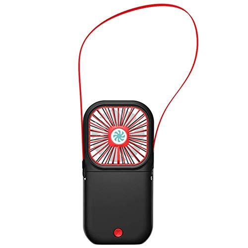 LSNLNN Ventiladores, Plegable Portátil Usb Cuello Colgante de Mano de Mano,162 * 80 * 17Mm,Negro