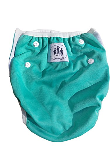 Three Little Imps set de 2 couches de bain à motif - 0-1 year an - vert, bleu ou jaune