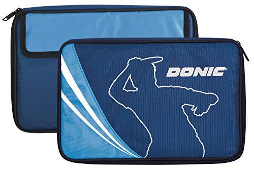 Donic-Schildkröt Funda Tenis de Mesa Legends, para hasta Dos Raquetas, Compartimento para Accesorios, 818540