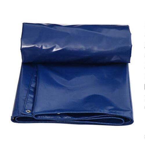 Nevy Lona Impermeable de PVC Lona de Lona Toldo Resistente Reforzado para Exteriores, Azul, tamaños múltiples, 550G / M² (Color : 4x4m)