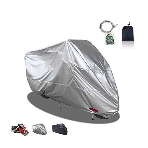 Teli per moto Coprimoto compatibile con coprimoto Yamaha XTZ250 Tenere, 3 colori 210D Oxford con copertura della serratura esterna moto, in forma 220-295cm ( Color : B , Size : 3XL(295*110*140CM) )