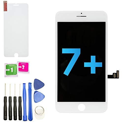 Scherm vervanging voor iPhone 7 Plus (wit) LCD Touch Screen Digitizer Display Vervanging + Tools + Screen Protector - UK SELLER