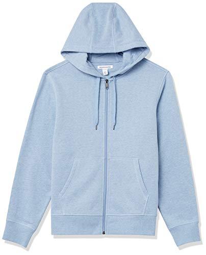 Amazon Essentials Big & Tall Full-Zip Hooded Fleece Sweatshirt Sudadera con Capucha, Azul Claro Mezcla, L