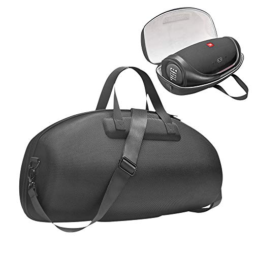 HIJIAO Upgrade Hard Travel Case for JBL Boombox 2/JBL Boombox and Accessories (Black+Orange)