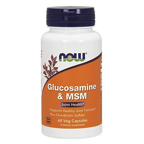 Now Foods Glukozamina & MSM, 60 capsulen