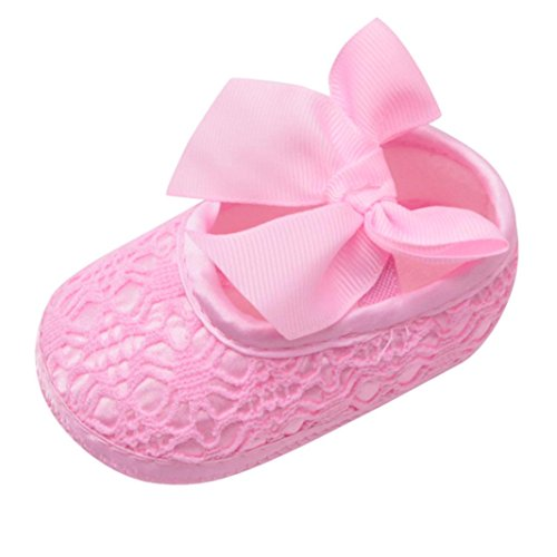 OYSOHE Baby Schuhe, Neugeborenes Baby Mädchen Rutschfeste Bowknot Schuh Krippen Schuhe Weiche Soled Schuhe