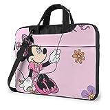 XCNGG Minnie Laptop Bag Business Briefcase pour Hommes Femmes, épaule Messenger Laptop Sleeve Case Sac de Transport - 14 Pouces